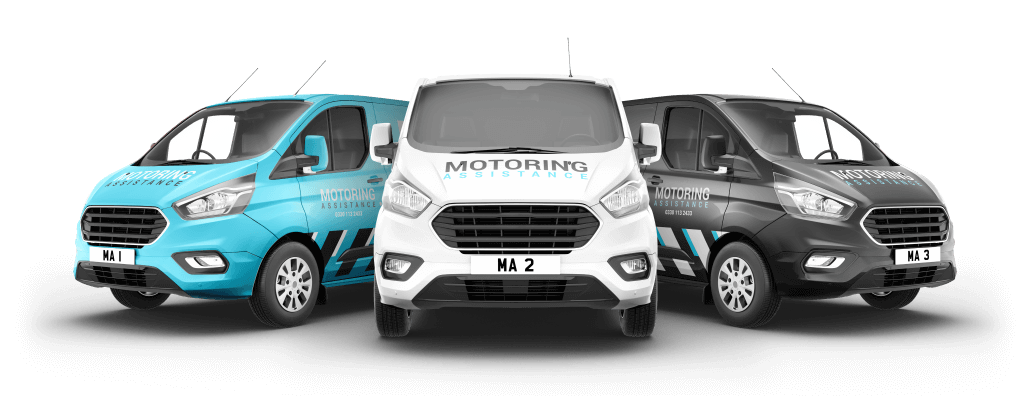 picture of 3 branded vans